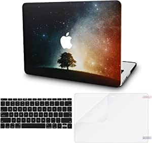"""KECC Laptop Case for MacBook Pro 13"""" (2020) w/Keyboard Cover Plastic Hard Shell A2338 M1 A2289 A2251 Touch Bar + Screen Protector 3 in 1 Bundle (Lonely Tree)"""