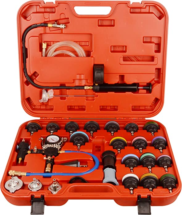 DA YUAN 28pcs Universal Radiator Pressure Tester and Vacuum Type Cooling System Kit