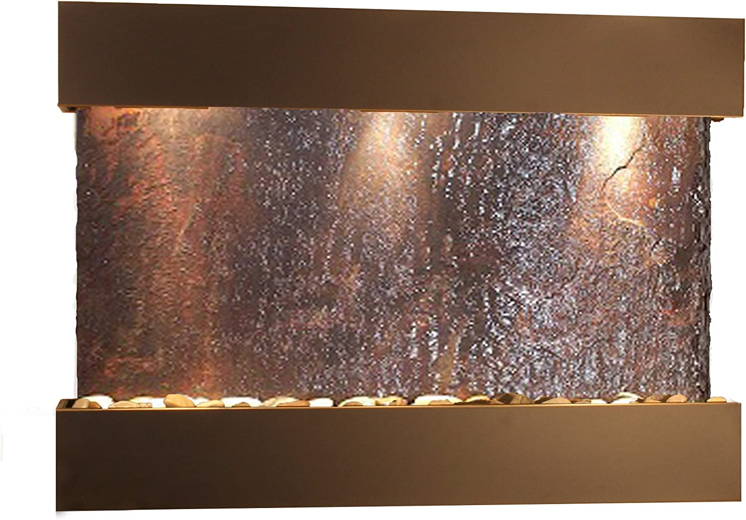 Reflection Creek Water Feature with Blackened Copper Trim and Square Edges (Natural Multi-Color Slate): Home & Kitchen