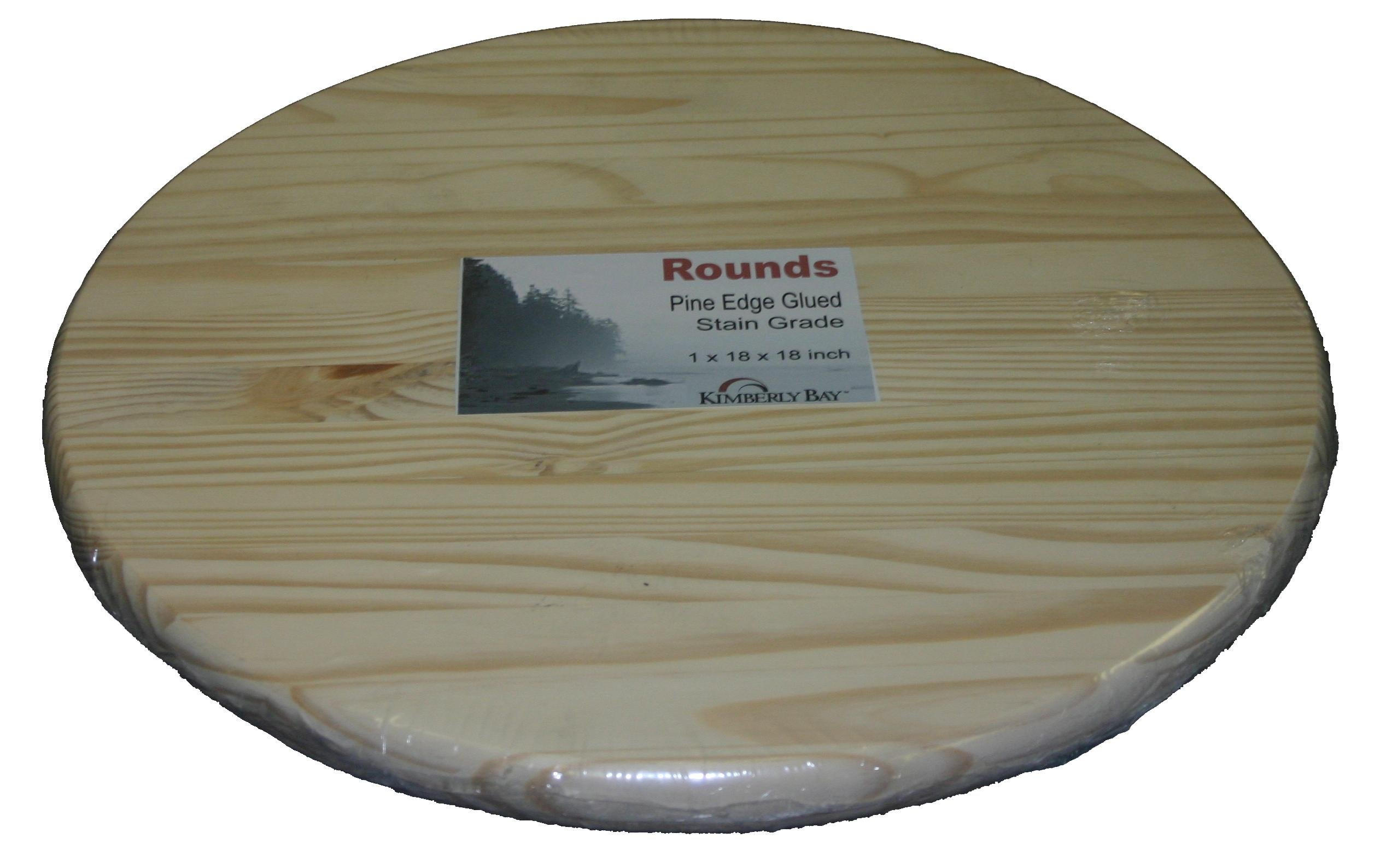 Edge Glued Pine Rounds 1x30x30'' by Kimberly Bay TM (Image #1)