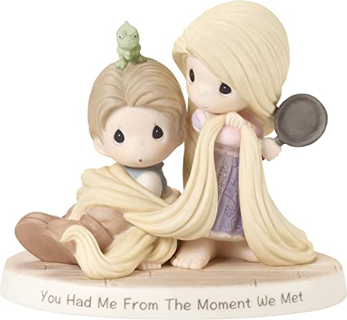 Precious Moments Company Precious 181091 Showcase Tangled You Had Me from The Moment We Met Bisque Porcelain Disney Figurine, One Size, Multi