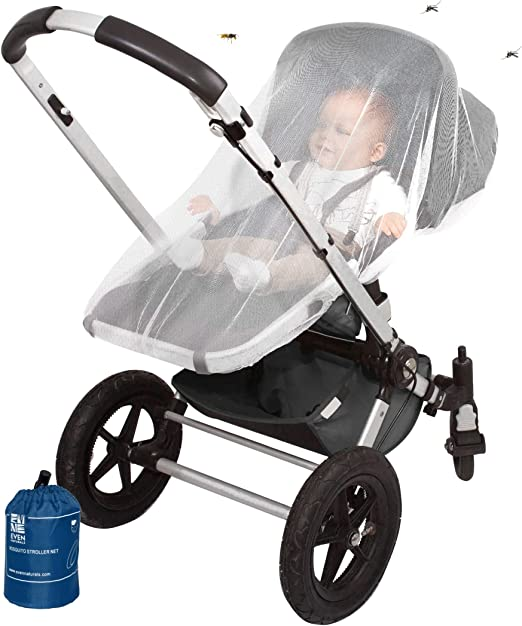 Clippasafe Infant Car Seat Insect Net White Mesh Mosquito Repellent Cover Screen