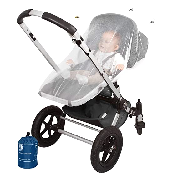 CHICCO C6 Lightweight Baby Stroller Mosquito Insect Bug Net Mesh White Cover NEW