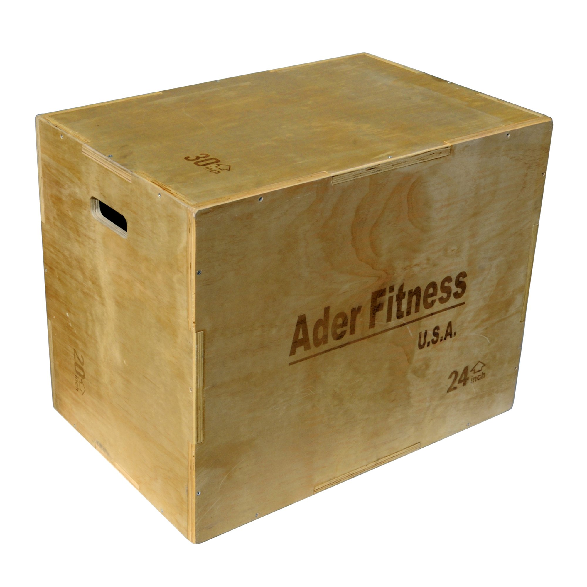 Ader Wood Plyometric Platform Box (20-24-30'' 3 in 1 Wood Box)