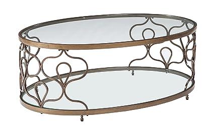 Amazoncom Ashley Furniture Signature Design Fraloni Traditional - Ashley furniture oval coffee table