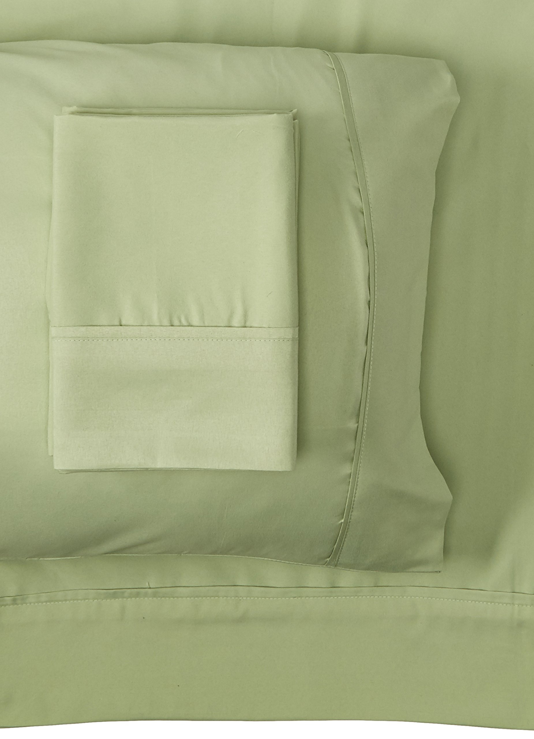 Spirit Linen 6 Piece Everyday Essentials 1800 Series Sheet Set, Queen, Sage