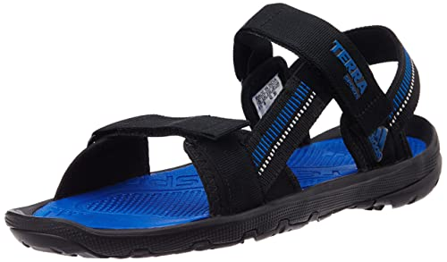 3b3f653b01e1d8 Adidas Men s Terra Sports Black and Blue Athletic   Outdoor Sandals ...