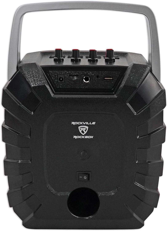 Rockville ROCKBOX 6.5 100 Watt Portable Rechargable Bluetooth Speaker w USB//SD