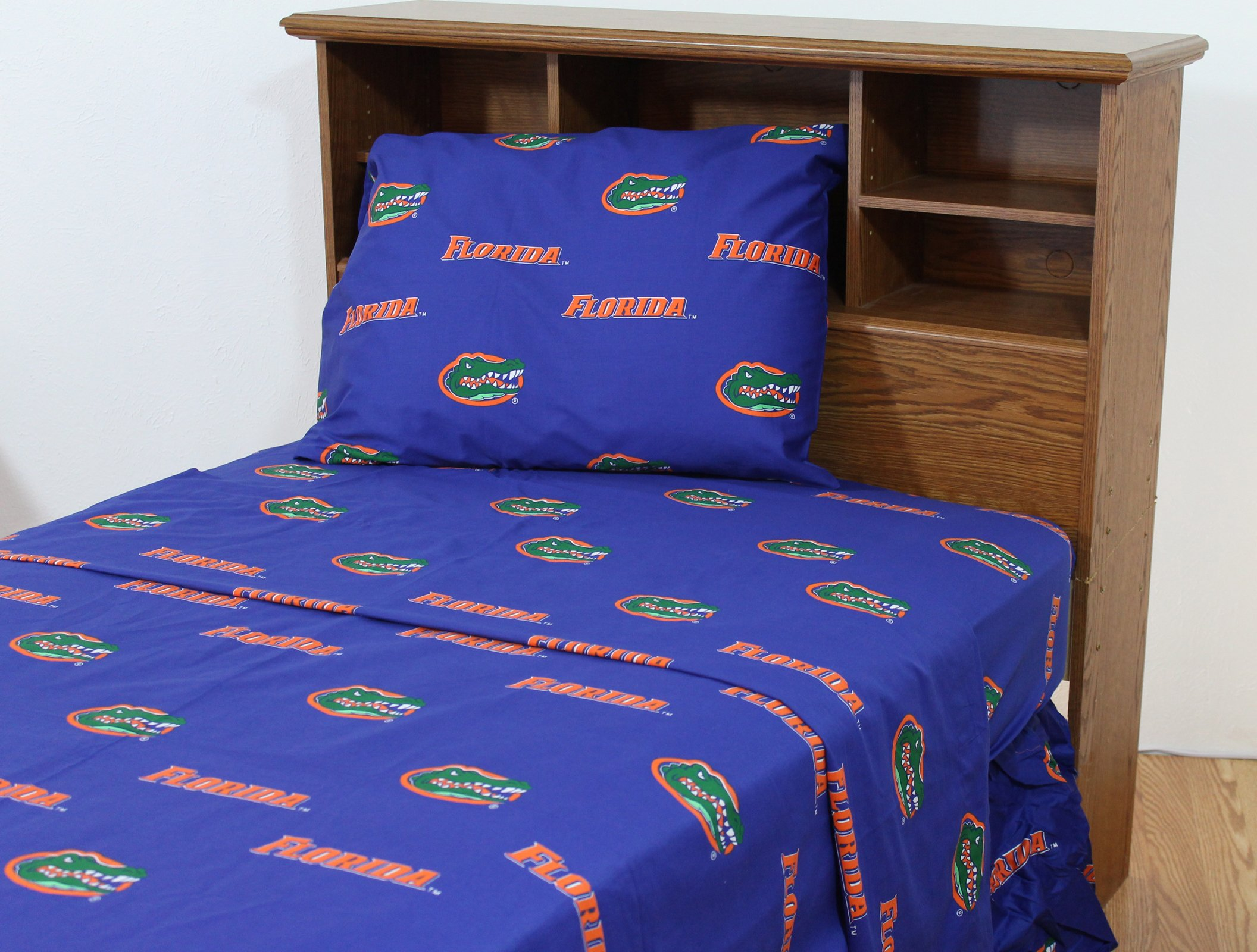 College Covers Florida Gators Printed Solid Sheet Set, Full by College Covers