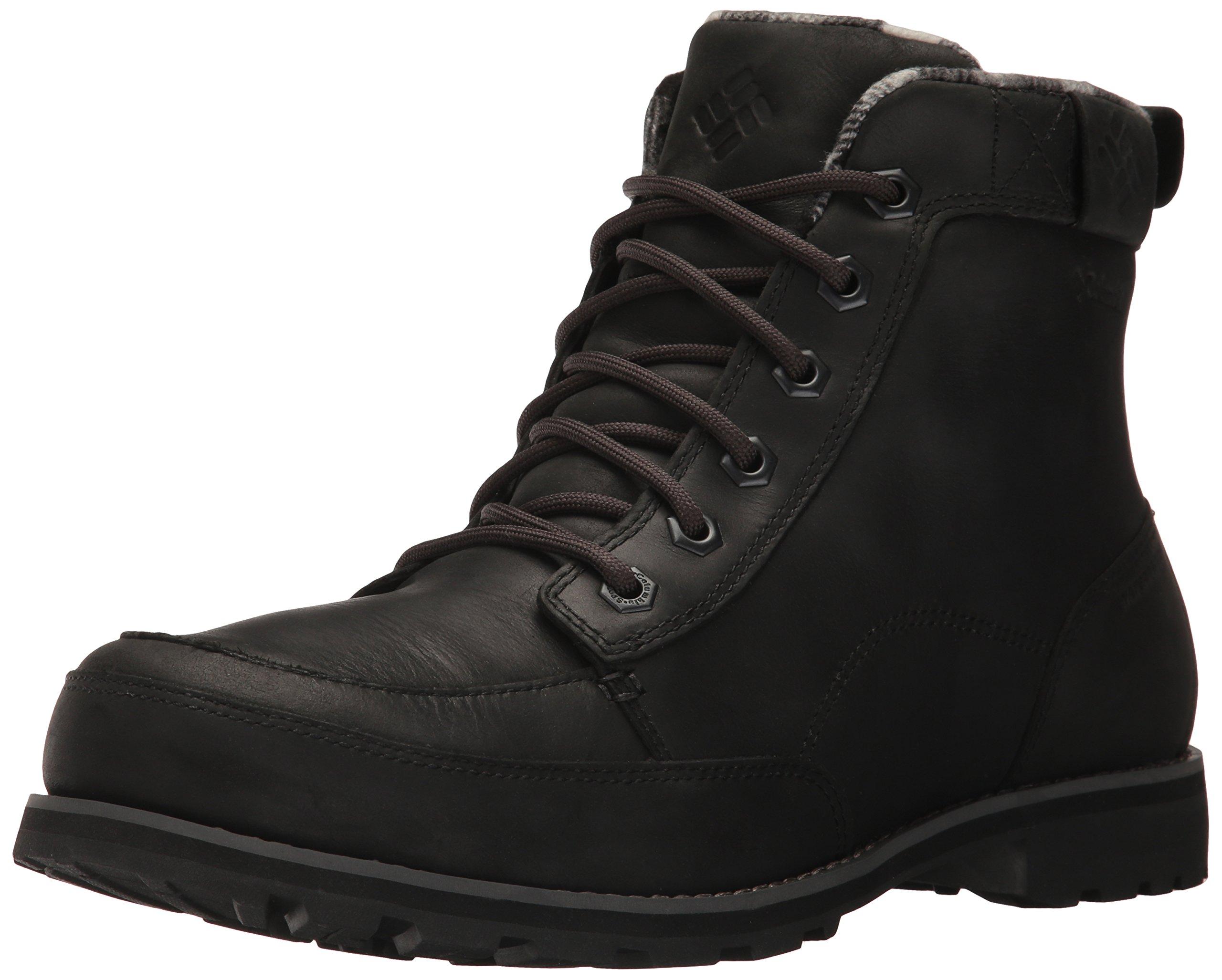 Columbia Men's Chinook Boot Waterproof Uniform Dress Shoe, Black, 13 D US by Columbia