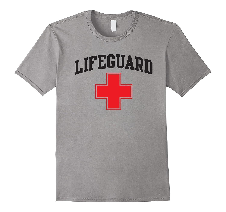 Lifeguard Short Sleeve Grey White T-Shirt-BN