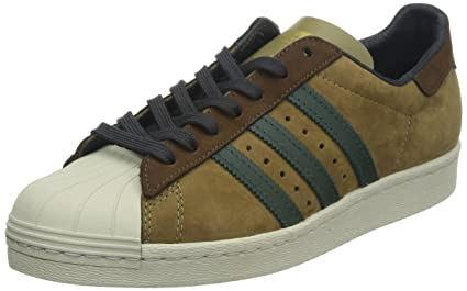Gamuza Zapatillas Cuero 80S Superstar Sneakers adidas Marron bfY6ygv7