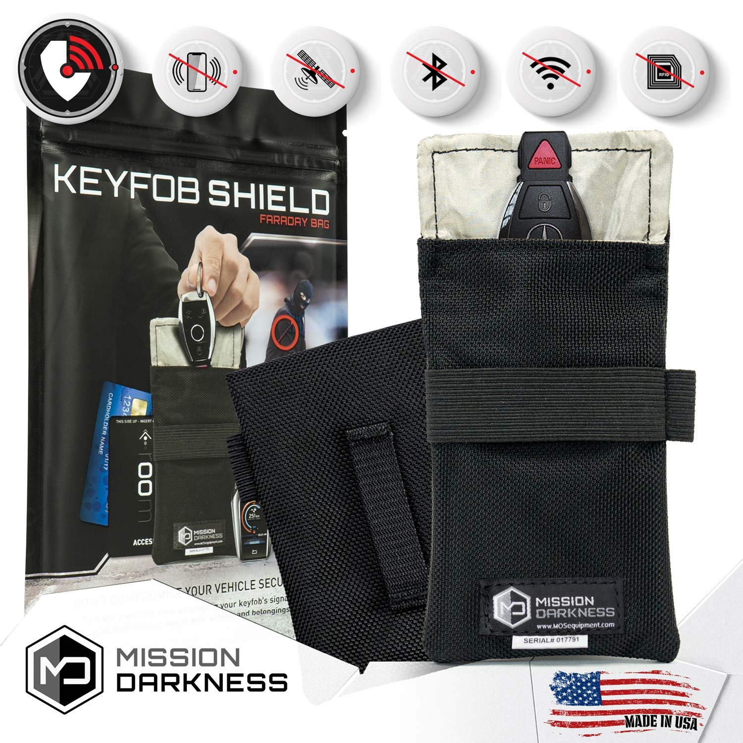 Mission Darkness Faraday Bag for Keyfobs - 5th Gen Shielding for ...