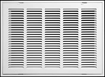 Amazon Com 20 X 18 Steel Return Air Filter Grille For 1 Filter Removable Face Door Hvac Duct Cover Flat Stamped Face White Outer Dimensions 22 5 W X 20 5 H Automotive