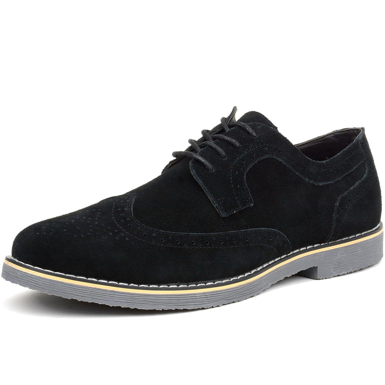 bb054f5c08e5 Amazon.com | alpine swiss Beau Mens Dress Shoes Genuine Suede Wing Tip  Brogue Lace Up Oxfords | Oxfords