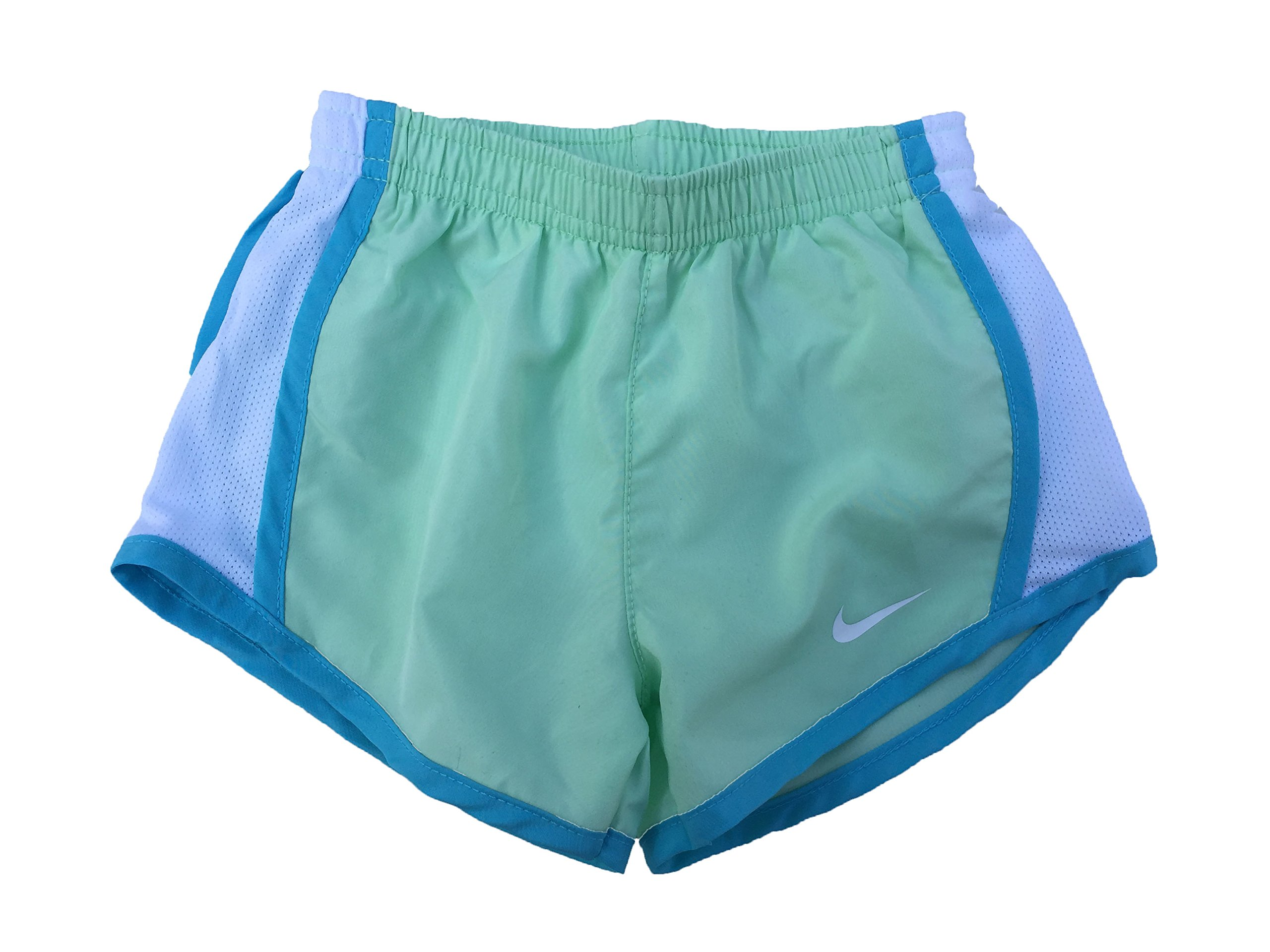 NIKE Girls' Dry Tempo Running Shorts (Fresh Mint (267358-E5C)/White/White, 2T)