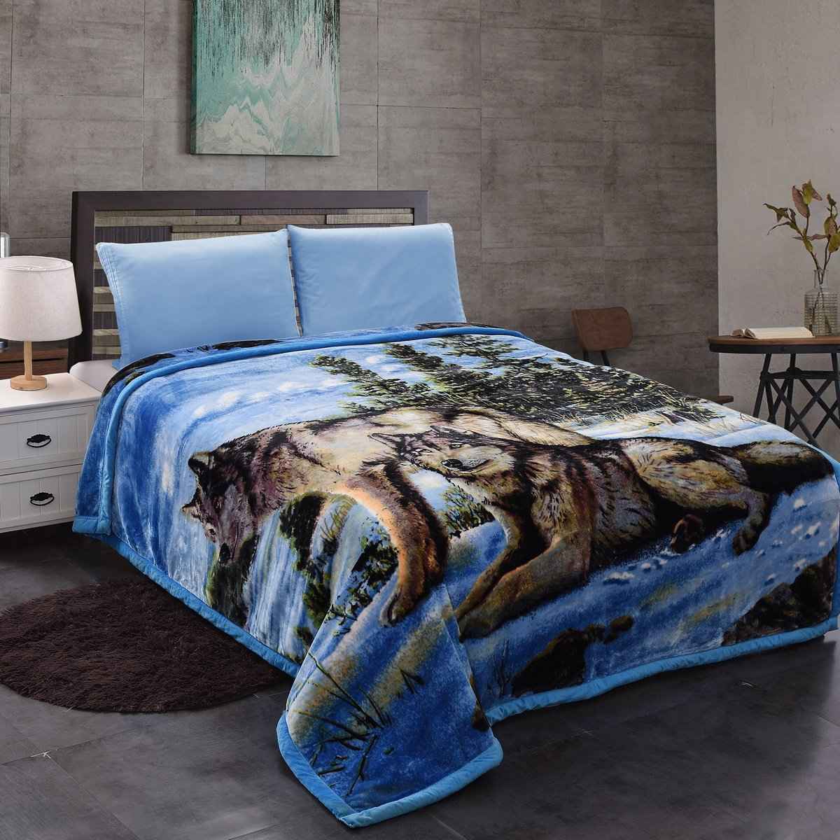 Jml Plush Crystal Velvet Heavy Blanket - Made of 750 GSM Microfiber in 95''x85'' - Faux, Mink and Embossing Dual Layers - Animal Printed in King Size, 9LB Weight by Jml (Image #2)