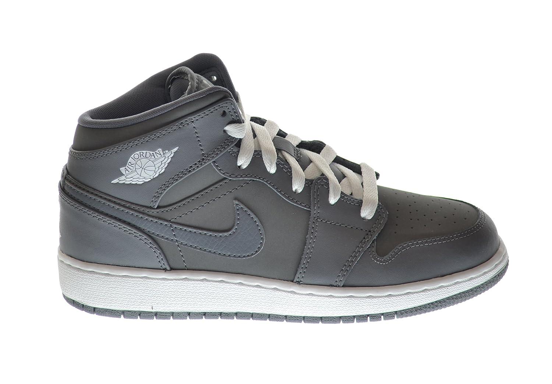 db83ac63f480 Amazon.com  Jordan Air 1 Mid (BG) Big Kids Basketball Shoes Cool  Grey White-Cool Grey 554725-014 (5 M US)  Shoes