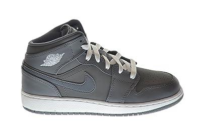 outlet store 7e474 a91cd Jordan Air 1 Mid (BG) Big Kids Basketball Shoes Cool Grey White-