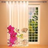 fl chenvorhang 60cm breit x 245cm lang gardine orchidee vorhang mit flauschband. Black Bedroom Furniture Sets. Home Design Ideas