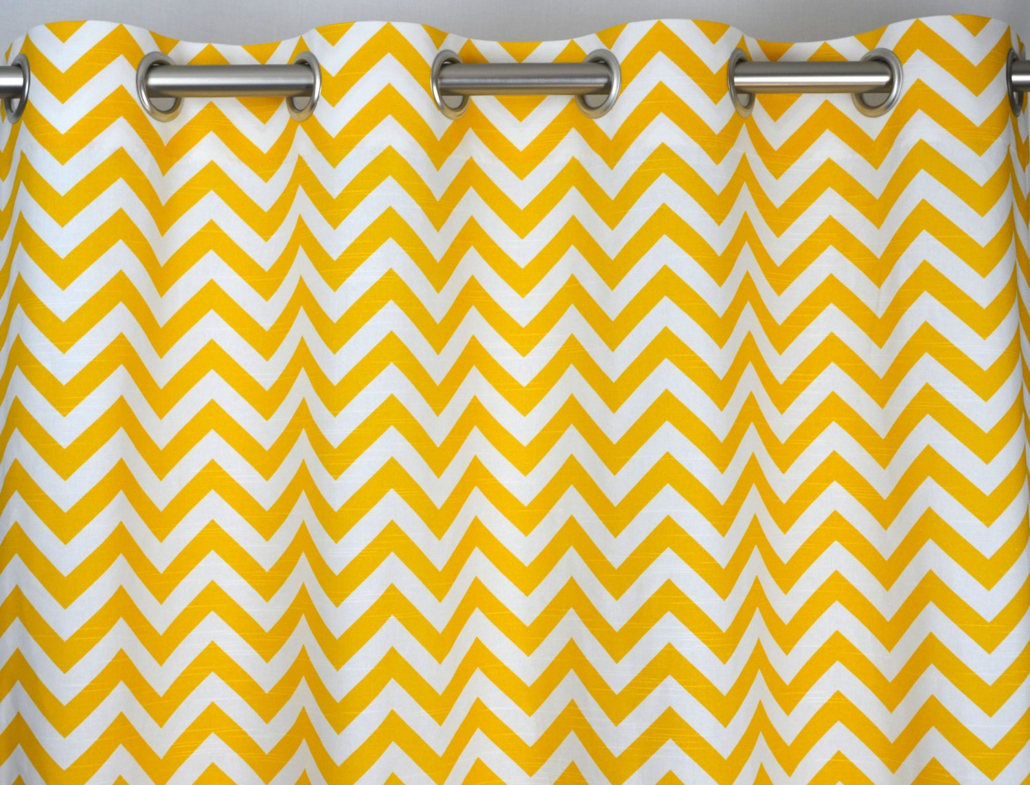 Yellow and grey chevron curtains - Yellow And White Chevron Zig Zag Drape With Blackout Lining One Grommet Top Curtain Panel 84 Inches Long X 50 Inches Wide Amazon Co Uk Kitchen Home