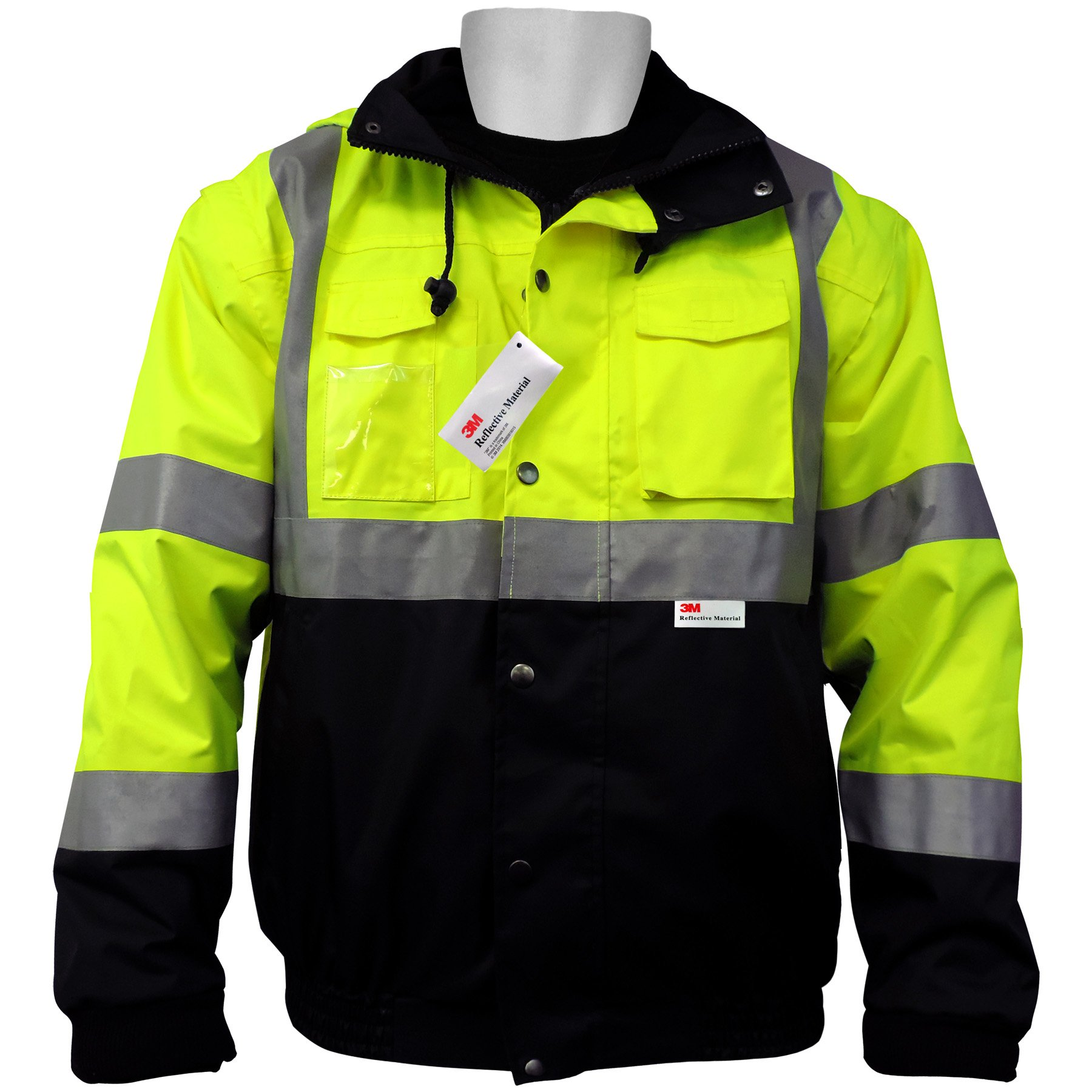 Global GLO-B1 FrogWear Polyurethane Class 3 Five in One Winter Jacket with 3M Scotchlite