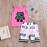 Baby Boy Girl T-Shirt Clothes Monster Cartoon and