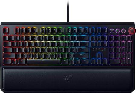 Razer BlackWidow Elite - Teclado Gaming, Estándar, Alámbrico, USB, Interruptor mecánico, DE Layout, Negro
