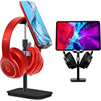 Headphone Stand & Phone Stand for Desk, Rotate360° Adjustable Hight Angle, ESOLEI Premium Phone Holder for Desk with…