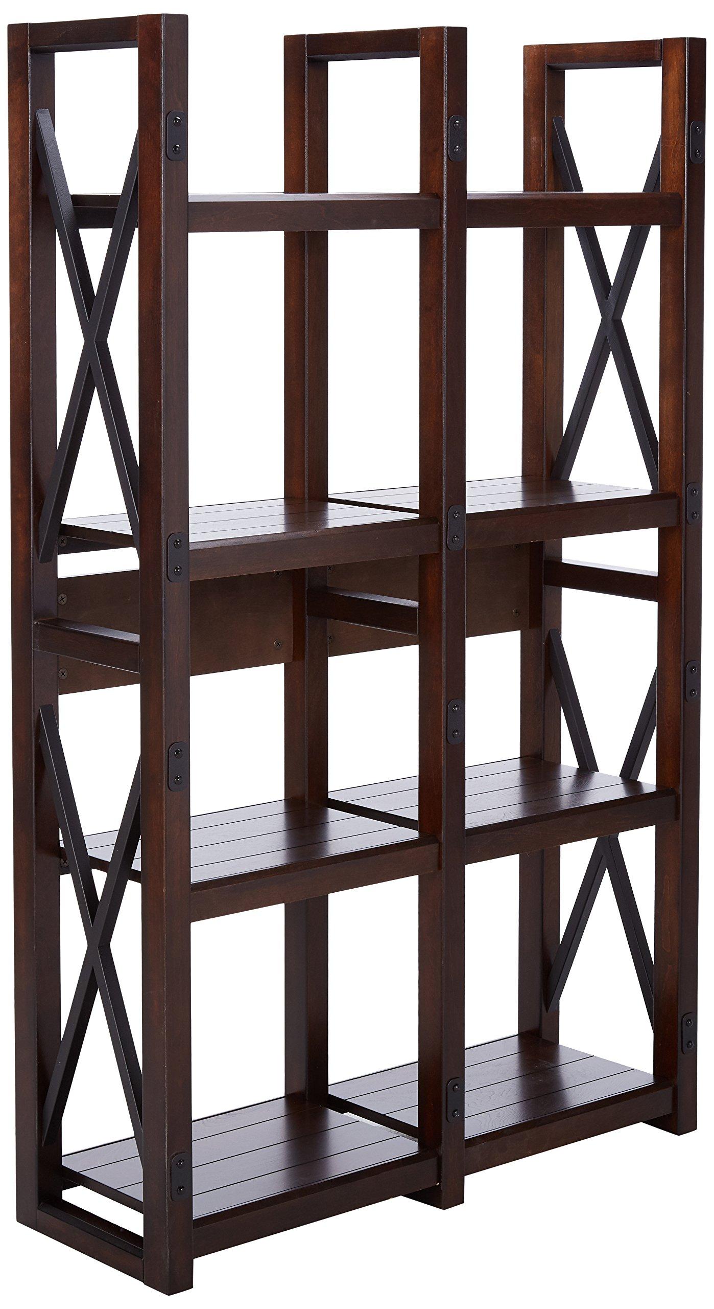 Ameriwood Home Wildwood Wood Veneer Bookcase/Room Divider, Espresso