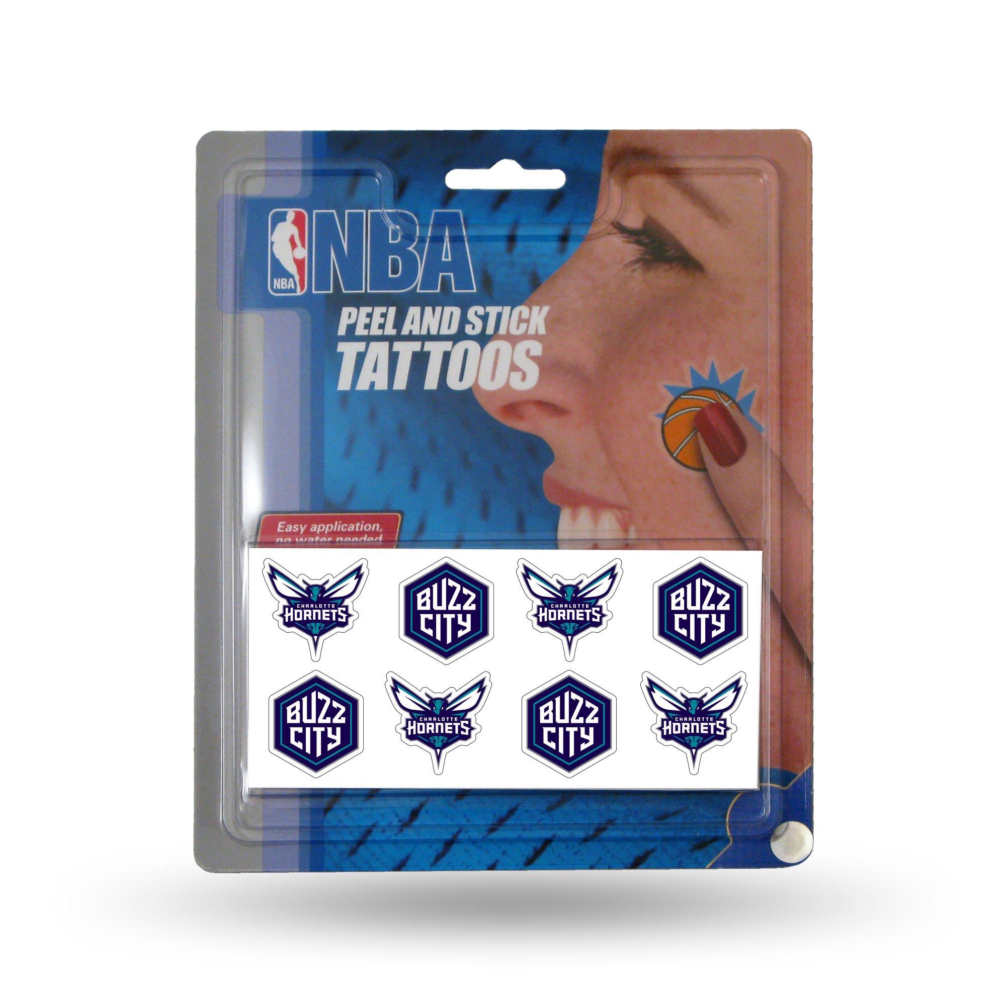 NBA Charlotte Hornets Face Tattoos, 8-Piece Set