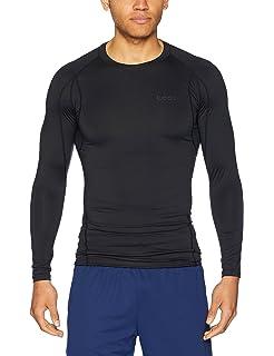 Mens Grey Panel Compression Long Sleeve Top Base Layer Shirt AFL Take 5