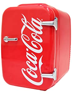 Coca-Cola Vintage Chic 4L Cooler/Warmer Mini Fridge by Cooluli for Cars, Road Trips, Homes, Offices and Dorms (110V/12V)
