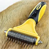 BarkOutfitters Dematting Tool for Dogs - Our Professional Grade Brush Safely and Easily Removes Matted Tangles