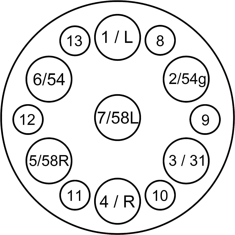 RED WOLF Adaptateur de remorque 13 broches vers 7 broches pour voiture camion 13 broches vers 7 broches 12 V