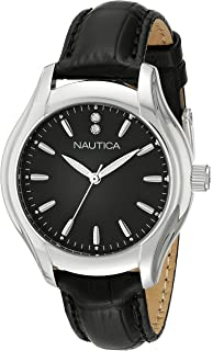Nautica Womens NAD11003M NCT 18 MID Analog Display Quartz Black Watch