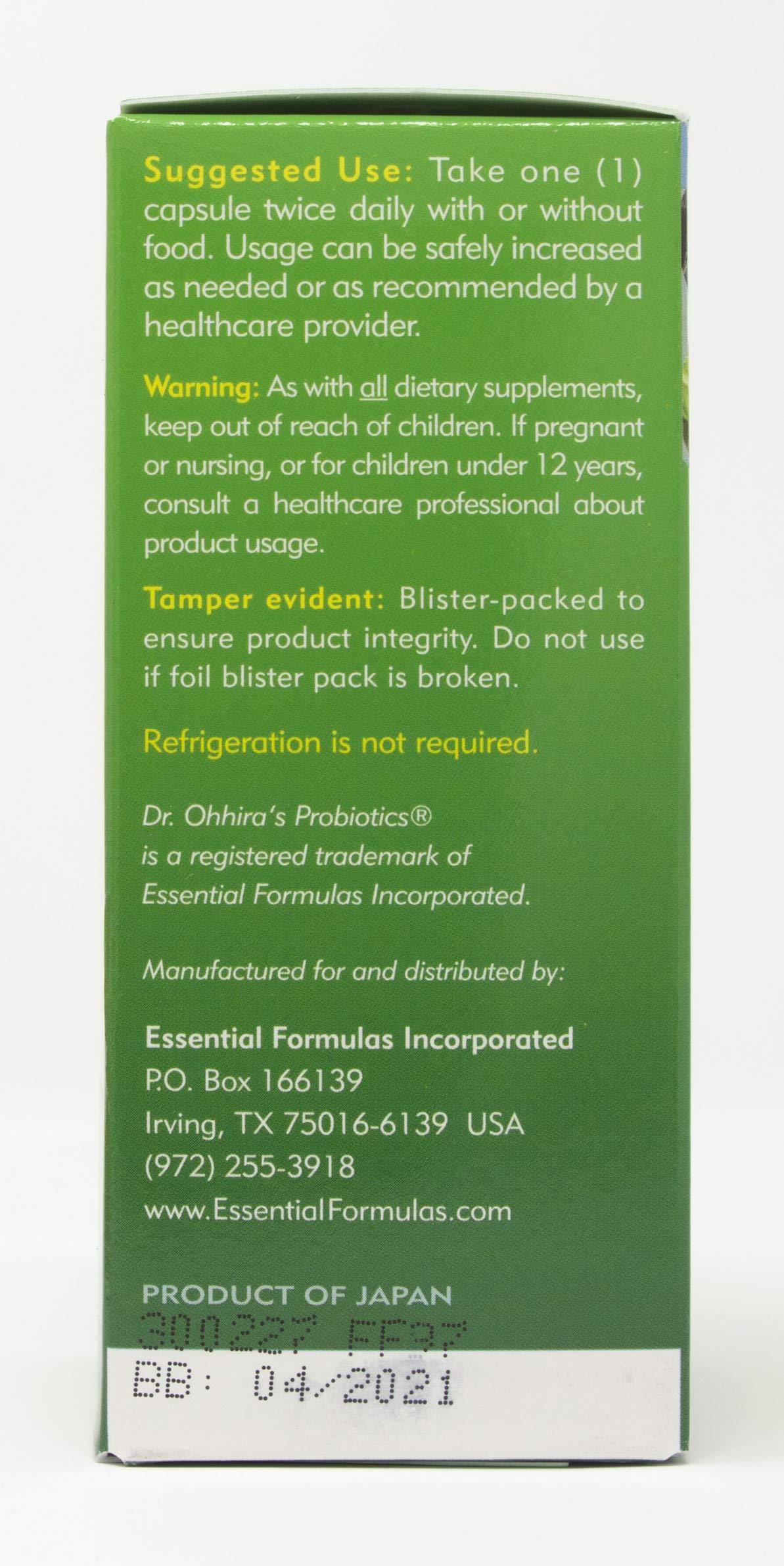 Dr. Ohhira's Probiotics, Original Formula, 60 Caps with Bonus 10 Capsule Travel Pack by Essential Formulas (Image #3)