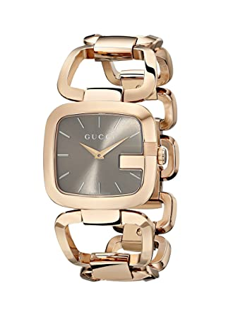 3af8b08d237 Image Unavailable. Image not available for. Color  Gucci G-Gucci Brown  Sun-Brushed Dial Stainless Steel Women s ...