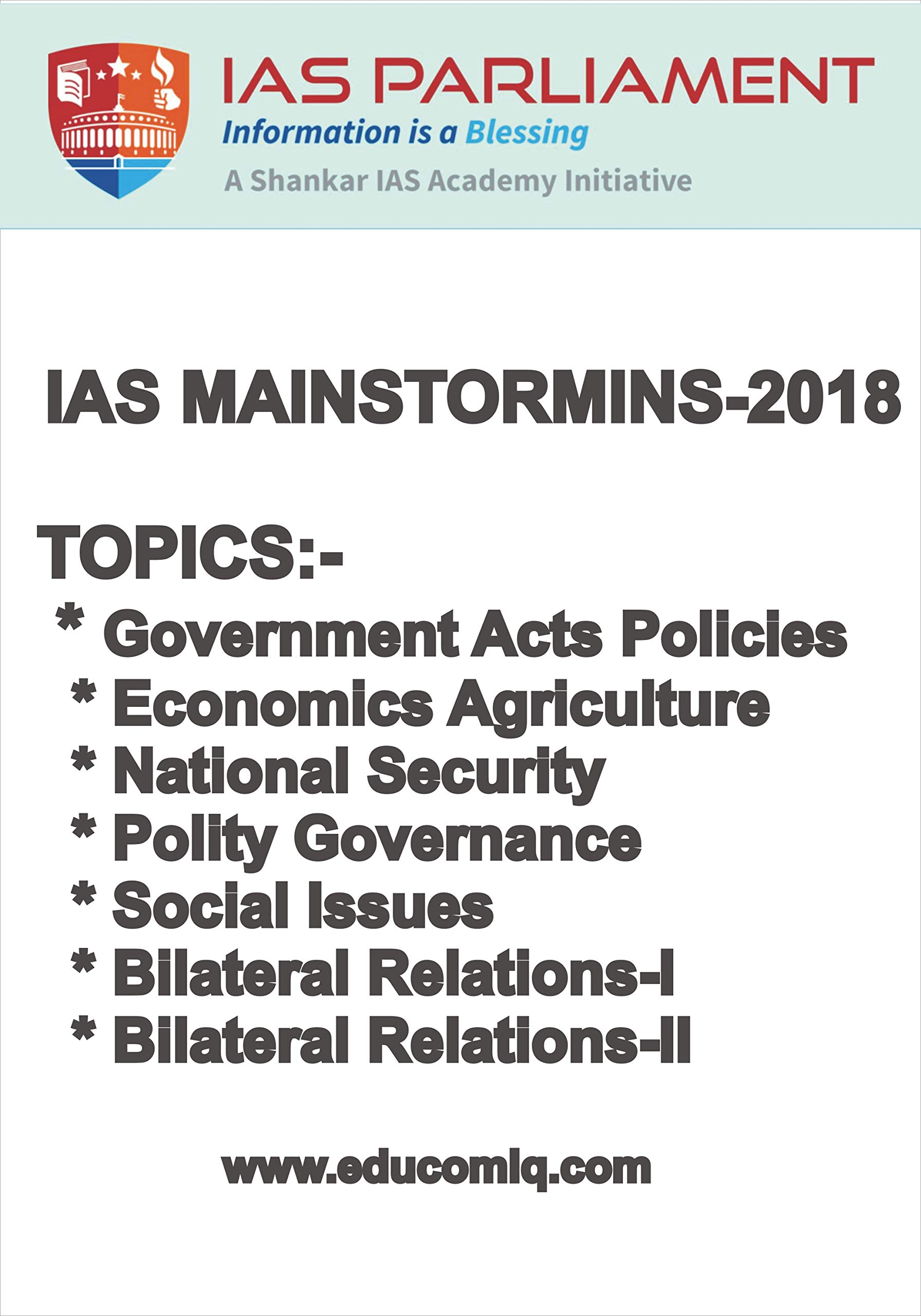 Amazon in: Buy GS Mainstorming-2018 Topics [IAS Parliament from