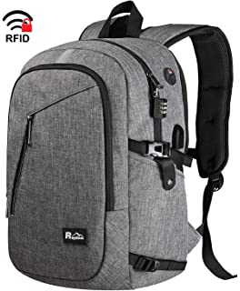 43f394887 Travel Laptop Backpack 15.6 Inch, Anti-Theft Slim College School Backpack  with USB Charging