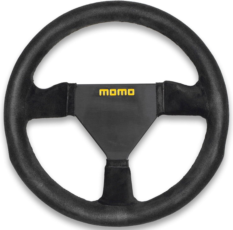 MOMO MIL35BK1P Millenium 350 mm Leather Steering Wheel