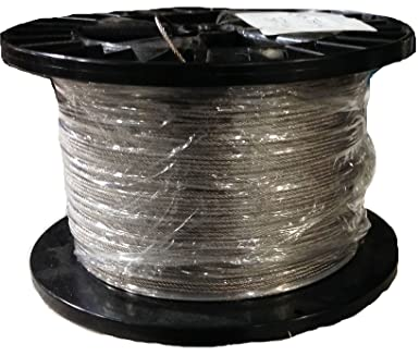 1 32 7x7 Stainless Steel Wire Rope Aircraft Cable T304 250 Foot Reel Amazon Com Industrial Scientific