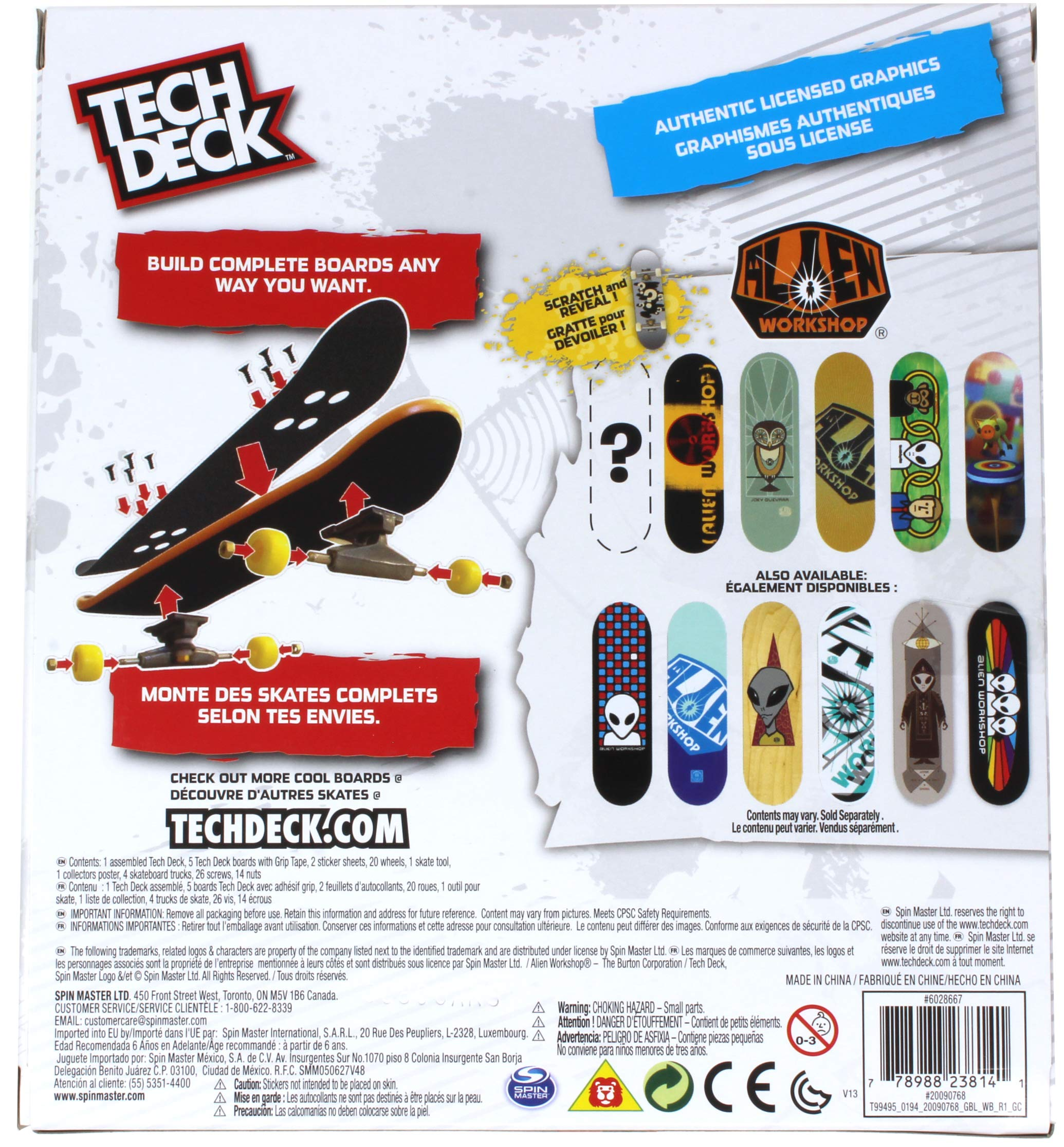Tech Deck Alien Workshop Skateboards Sk8shop Bonus Pack with 6 Fingerboards - 20th Anniversary by Tech Deck (Image #2)