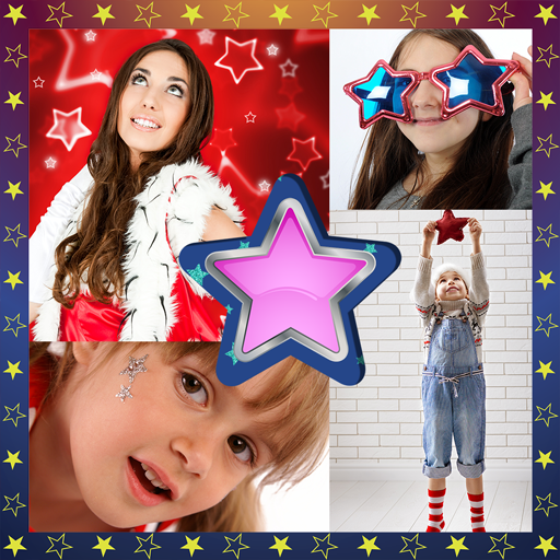 Stars Photo Collage (Color Frame Home Stars)