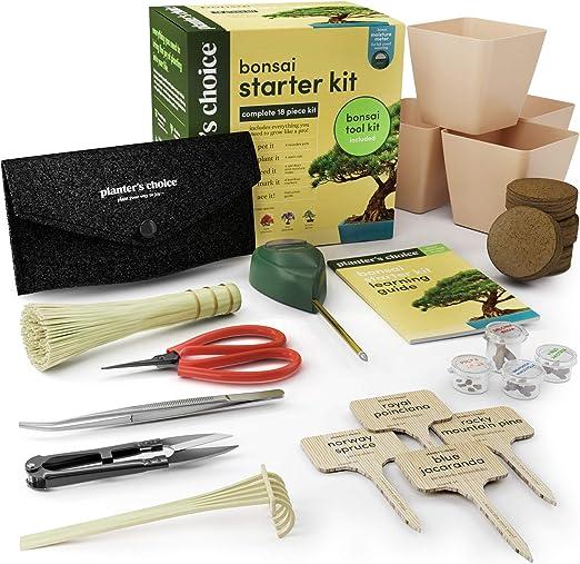 Bonsái Kit de Iniciación + Kit de Herramientas - Kit Completo para ...