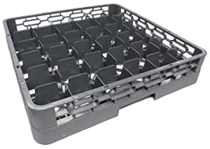 "Johnson Rose 82036 Dish Glass Rack, 36 Compartment, 19-3/4"" x 19-3/4"" x 4"", Plastic"
