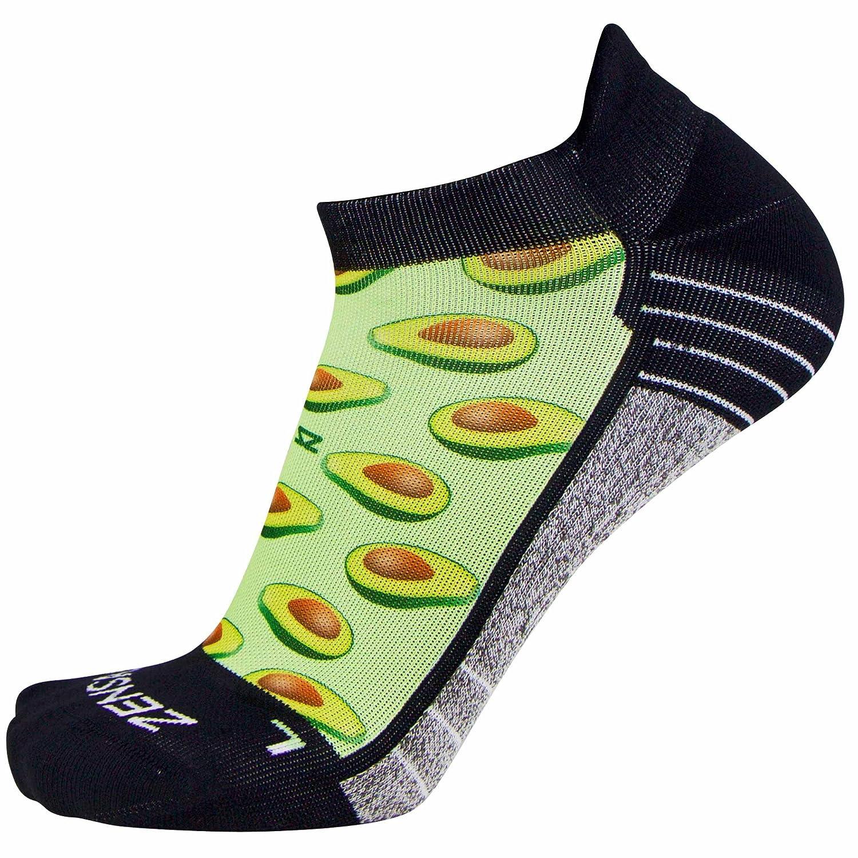 Zensah Limited Edition No-Show Running Socks - Anti-Blister Comfortable Moisture Wicking Sport Socks for Men and Women 8625-P