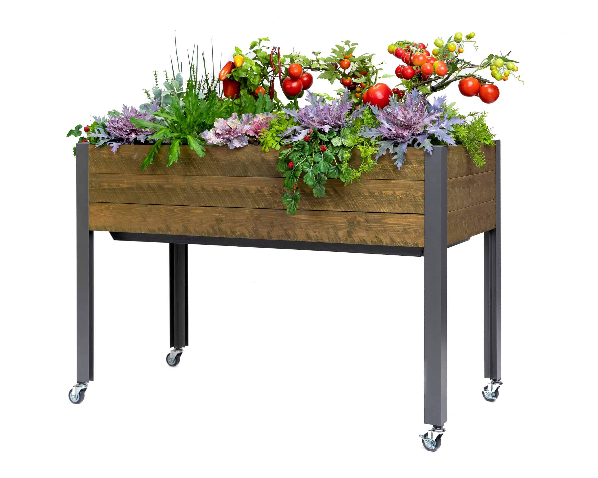 CedarCraft Self-Watering Elevated Spruce Planter (21'' x 47'' x 32''H) - The Flexibility of Container Gardening + The Convenience of a self-Watering System. Grow Healthier, More Productive Plants. by CedarCraft (Image #1)