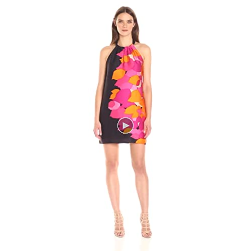 free shipping Trina Turk Women's Roe Kona Leaf Sleeveless Dress