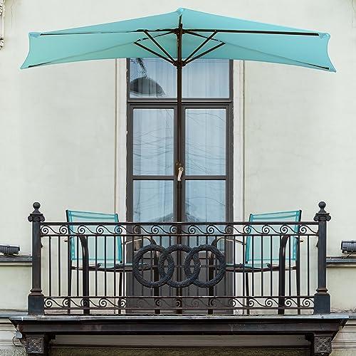 Pure-Garden-9'-Half-Round-Patio-Umbrella
